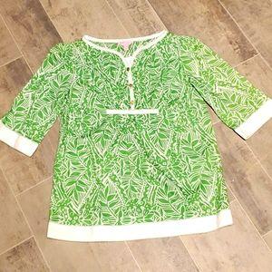 EUC Lilly Pulitzer Green Leaf Top